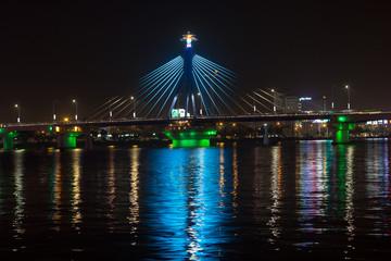 Han River Bridge in Danang, Vietnam.