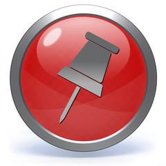 Safety pin circular icon on white background