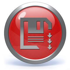 Save circular icon on white background