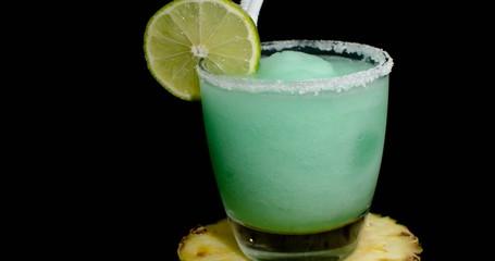 Daiquiri Rebelde or Peppermint Margarita cocktail or drink