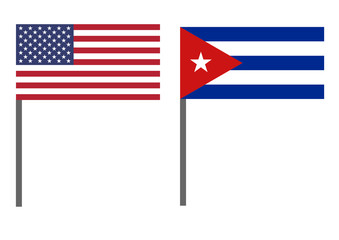 Flag of Cuba and USA