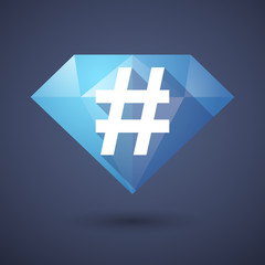 Diamond icon with a hash tag