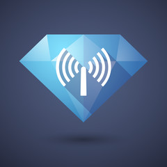 Diamond icon with an antenna