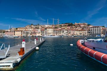 Panorama of Porto Azzurro on Elba Island, Italy