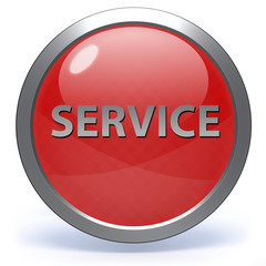 Service circular icon on white background