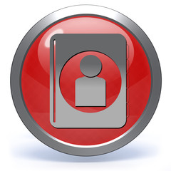 Profile circular icon on white background