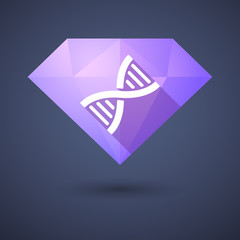 Diamond icon with a DNA sign