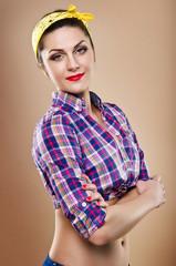 Beautiful girl in pin-up
