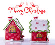 Merry Christmas. Christmas background with house