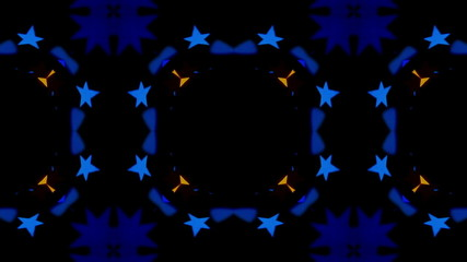 Flashing Kaleidoscope rays as abstract background