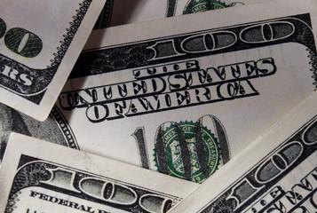 Close up Real US Dollar Bills