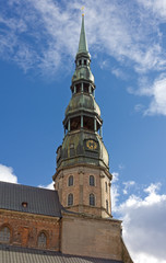 St. Peter's Church Steeple in Riga, Latvia