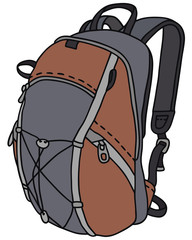 Hand drawing of a kit bag