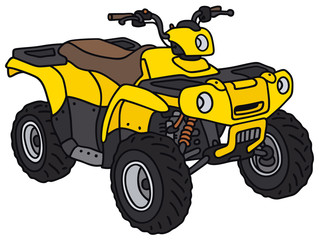 Hand drawing of a yellow funny ATV - not a real model