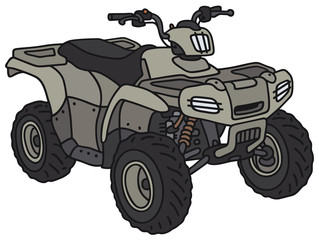 Hand drawing of a military ATV - not a real model