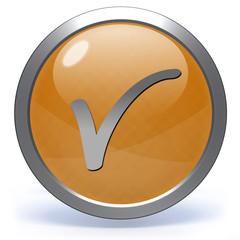 check circular icon on white background