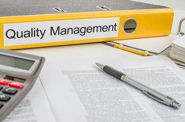Folder with the label Quality Management