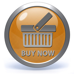 Buy now circular icon on white background