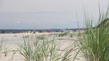 People on the beach - Baltic Sea.