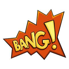 Vector Cartoon Comics Phrase - Bang.