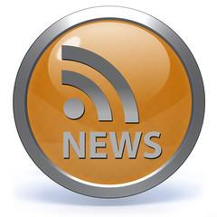 News circular icon on white background
