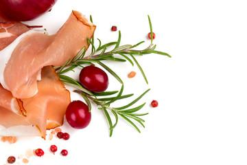sliced proschiutto