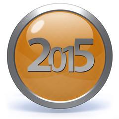 2015  circular icon on white background