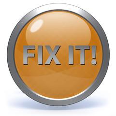 Fix it circular icon on white background