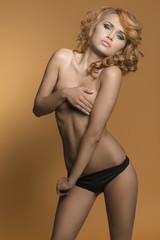stripper redhead woman