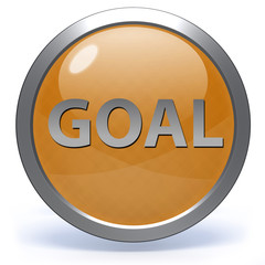Goal circular icon on white background