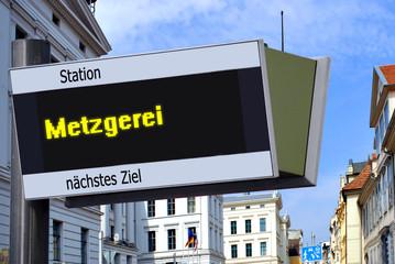 Strassenschild 27 - Metzgerei
