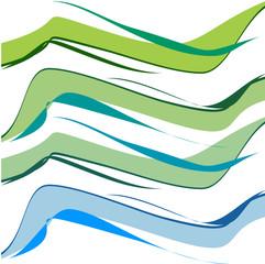 ali graduali blu verde