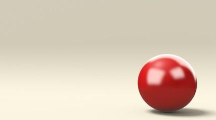 Sfera rossa isolata su bianco