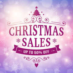 christmas sales bussiness background