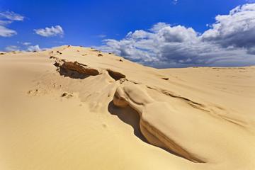 Sand Dunes Edge Clouds