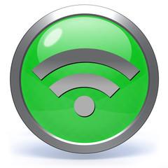 signal circular icon on white background