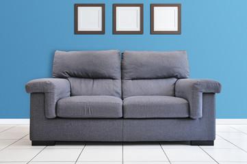 intérieur design bleu