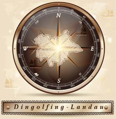 Karte von Dingolfing-Landau