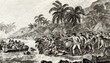 Leinwanddruck Bild - The Death of Captain Cook painted by John Webber
