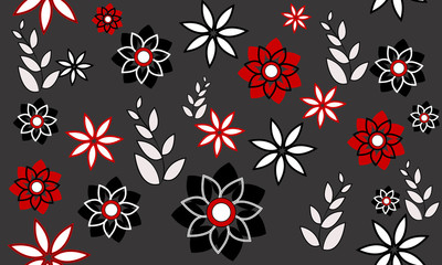 abstract background with flowers, pattern