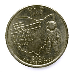 State of Ohio Quarter Birthplace of Aviation Pioneers