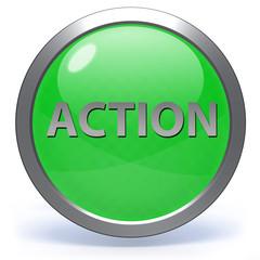 Action circular icon on white background