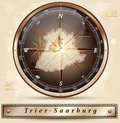 Karte von Trier-Saarburg