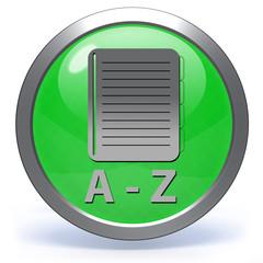 A-Z circular icon on white background