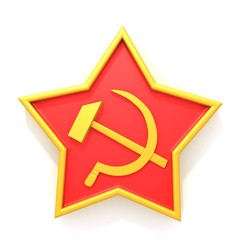 Soviet star 3d illustration