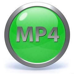 MP4 circular icon on white background