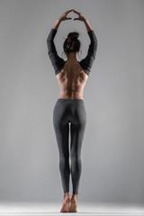Athletic girl in sportswear