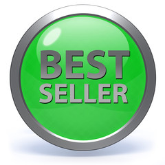 Best seller circular icon on white background