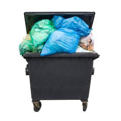 Mülltonne mit Abfall