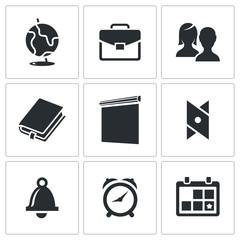 School Vector Icons Set
